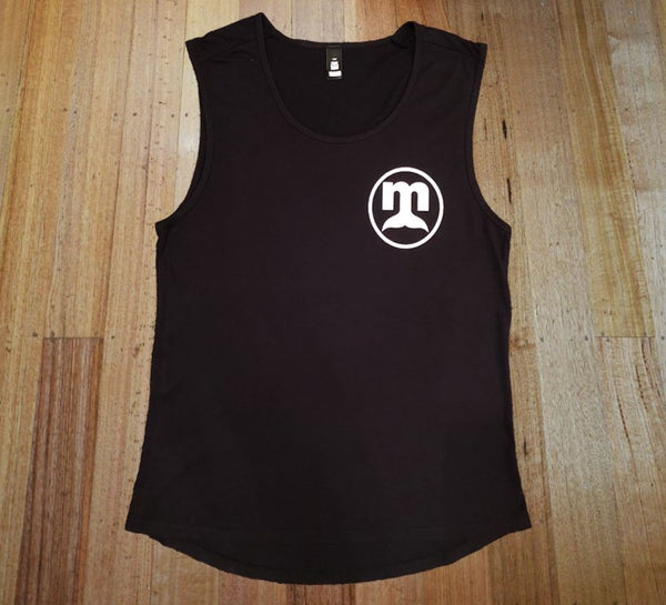 Image of Black Circle Logo Singlet - Ladies