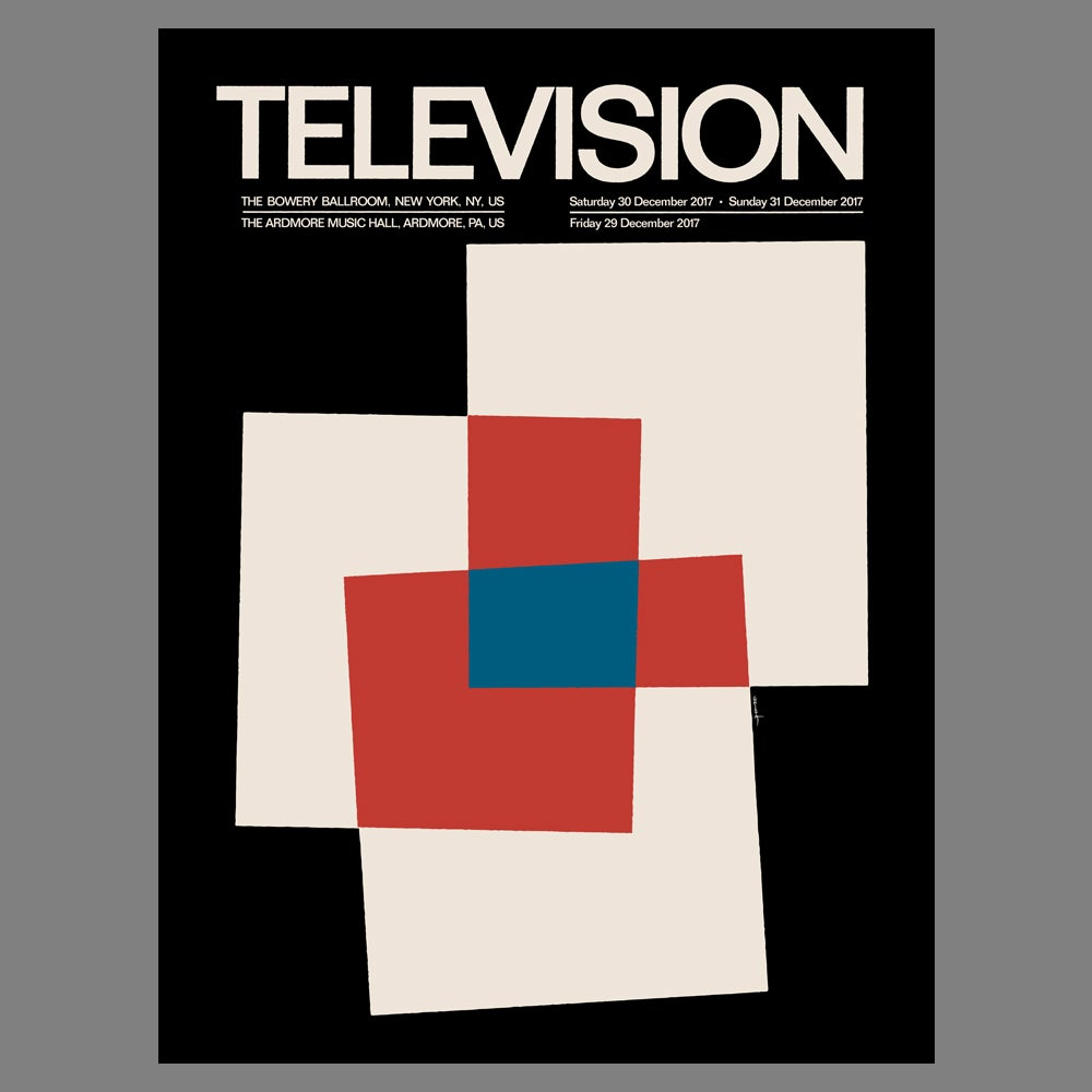 Image of Television - 2017 NYE Poster - PRE-ORDER