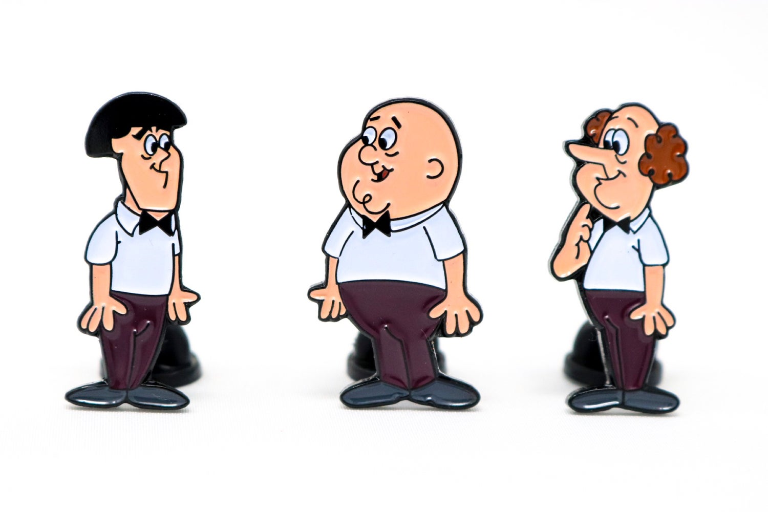 Image of The Three Stooges - The New Three Stooges Enamel Pin Set