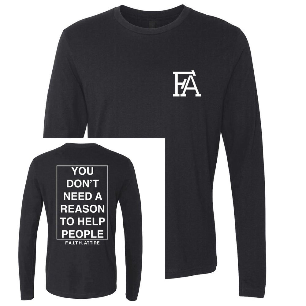 "Image of ""Help People"" Long Sleeve Shirt"