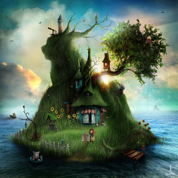 """Felicias Island"" (summer) - Alexander Jansson Shop"