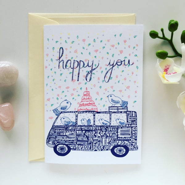 Image of Greeting Card *Happy you*