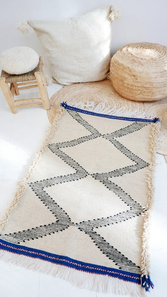 Image of Moroccan Small Kilim Rug - Zigzag Pattern Flatweave