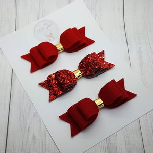 "Image of 4"" Red Double Loop Bow -"