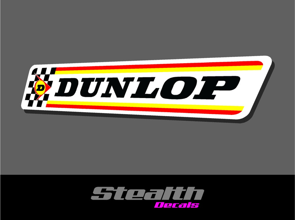 Image of Dunlop vintage stickers x2