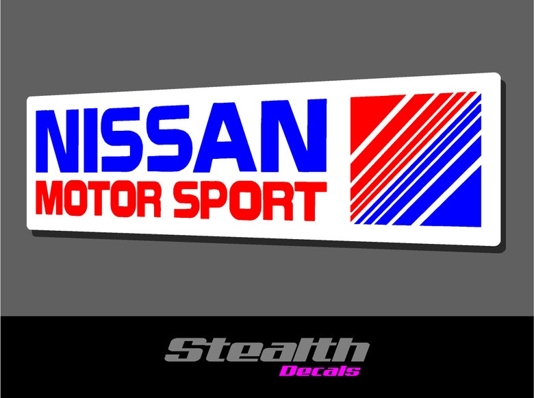 Image of Nissan motorsport stickers x2