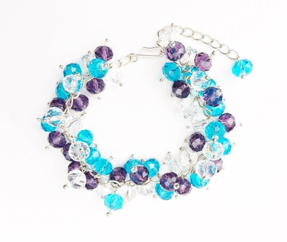 Image of Multicolored Crystal Charm Bracelet