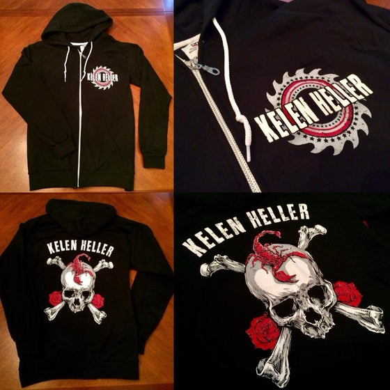 Image of Unisex Limited Edition Zip-Up Black Scorpion Skull Hoodies!