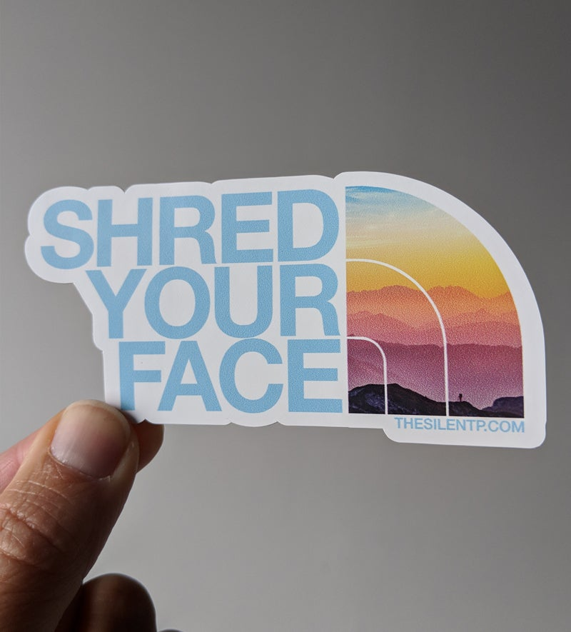 Shred Your Face (blue)