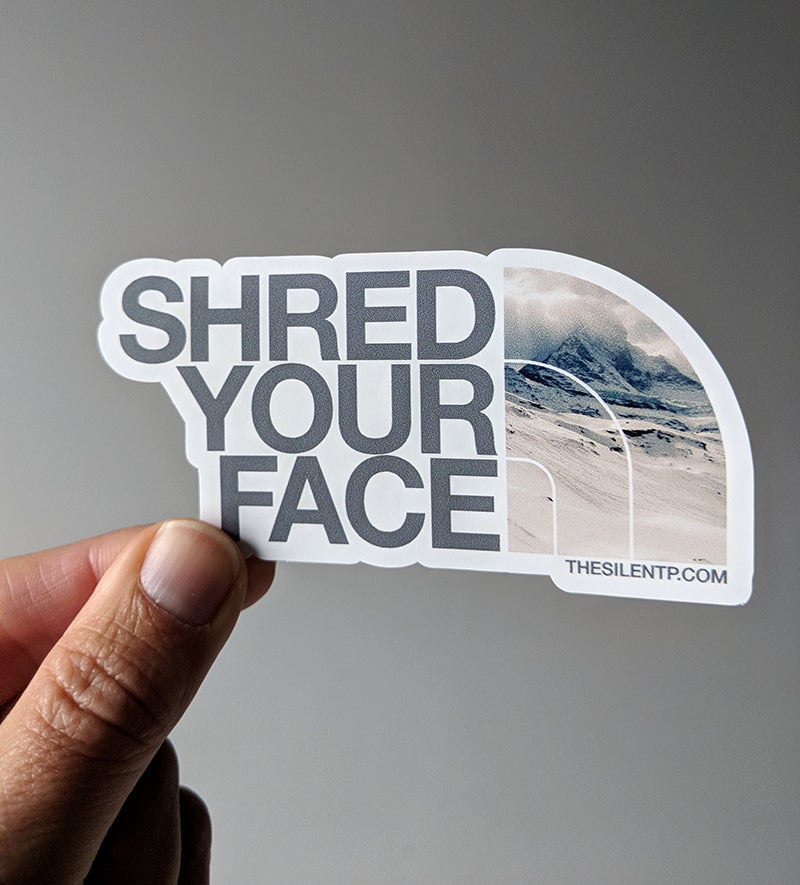 Shred Your Face (grey)