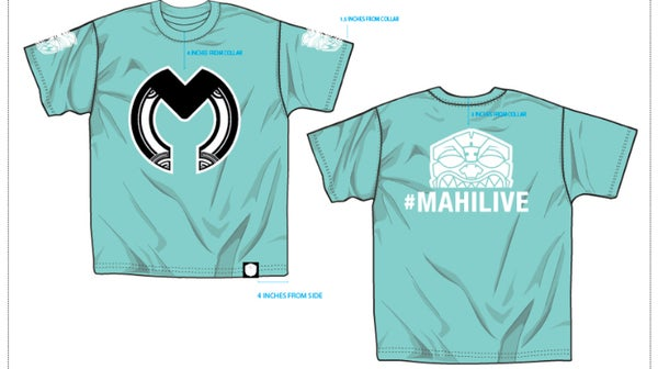 Image of Mahi Live Logo Shirt (Tiffany blue)