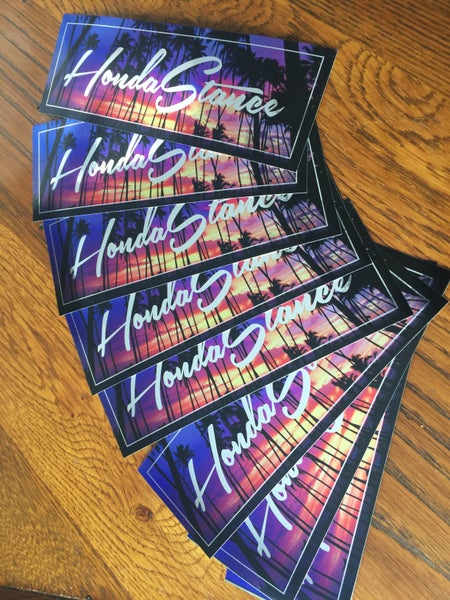 Image of HondaStance Sunset Chrome Stickers