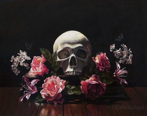 Image of Memento Mori - Framed Original Painting