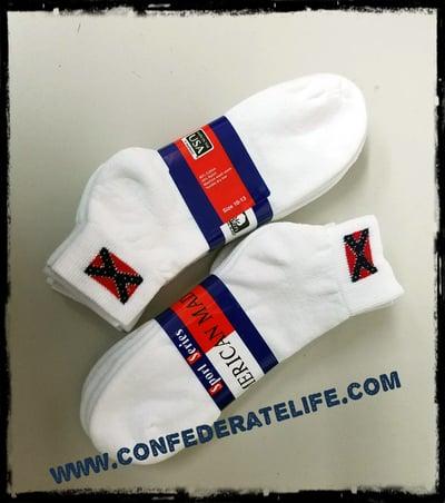 Image of Confederate, Rebel Flag Socks 3-PACK