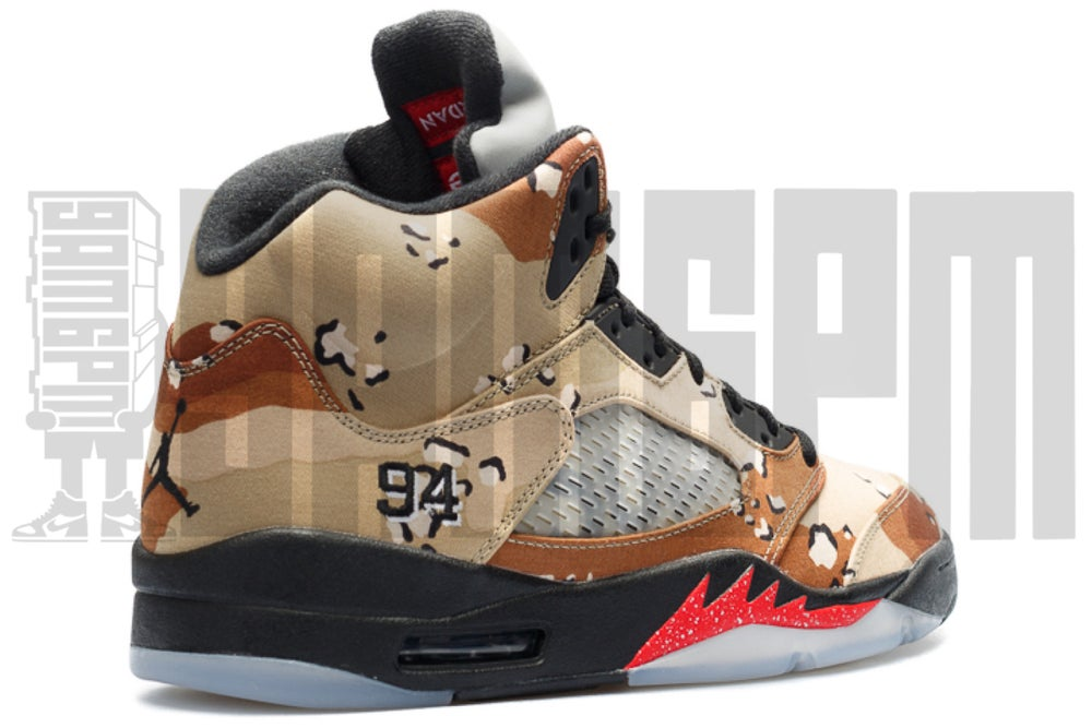 "Image of NIKE AIR JORDAN 5 RETRO SUPREME ""CAMO"""