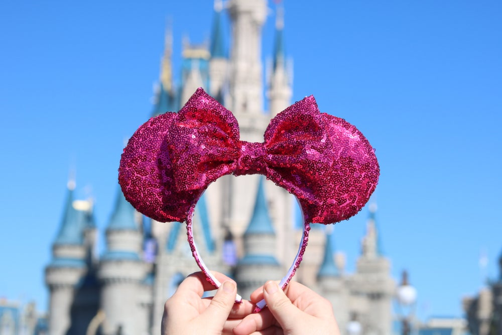 Image of Marie Pink Sequin Ears