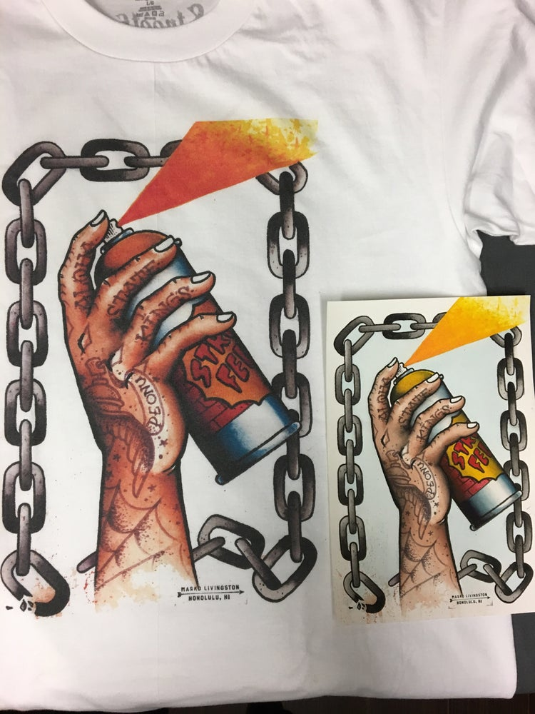 Image of Streetfelt Hawaii 'The Can' Tee and print