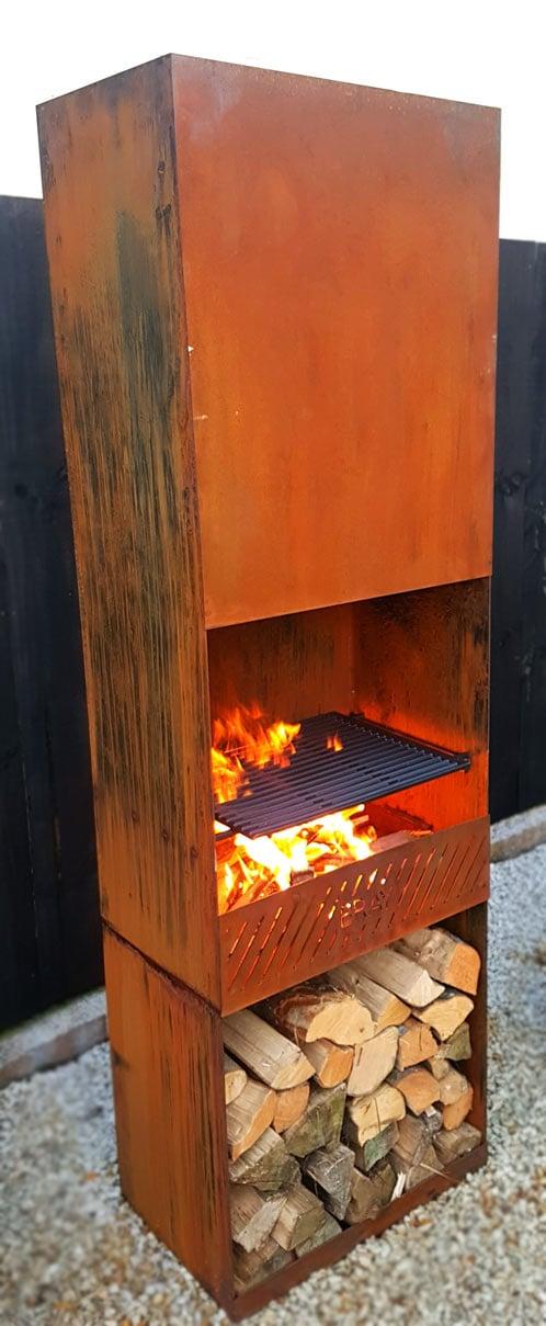 Image of TASMAN Corten Steel Fireplace
