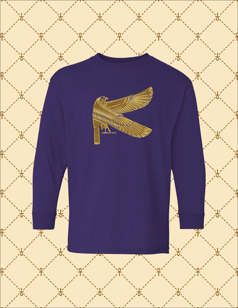 Image of Youth Gold Heru Youth Long Sleeve Tee