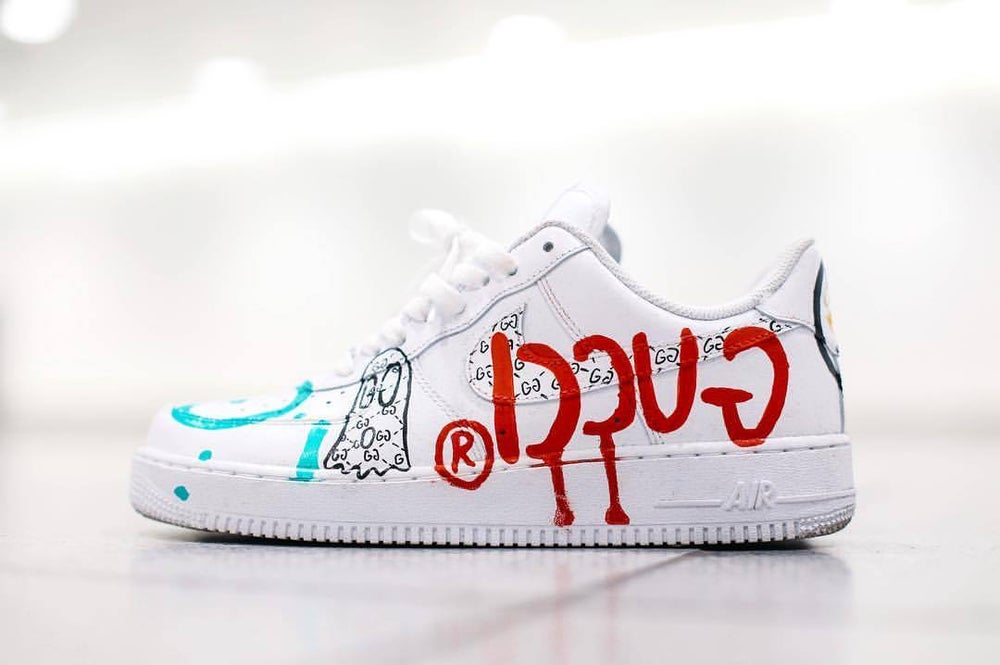 0ef2e974685 ... Image of Custom Nike Air Force 1 (inspired by Trevor Andrew GUCCI  GHOST) ...