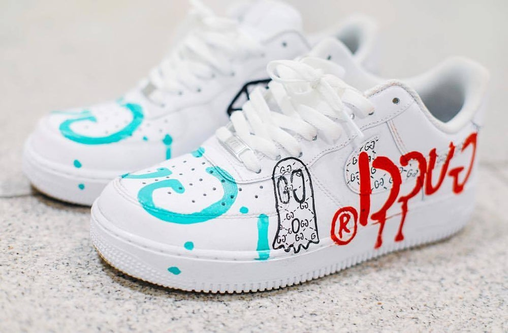 Image Of Custom Nike Air Force 1 Inspired By Trevor Andrew GUCCI GHOST