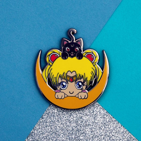 Image of Moon Pals Hard Enamel Pin