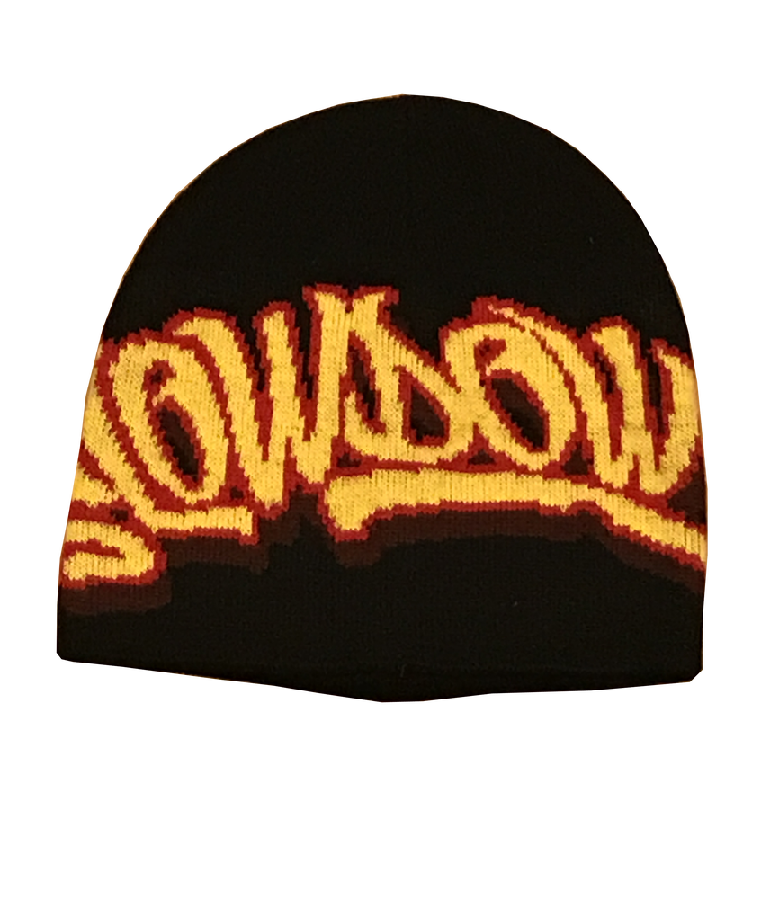 Image of Winter Logo Beanie Black yellow and red