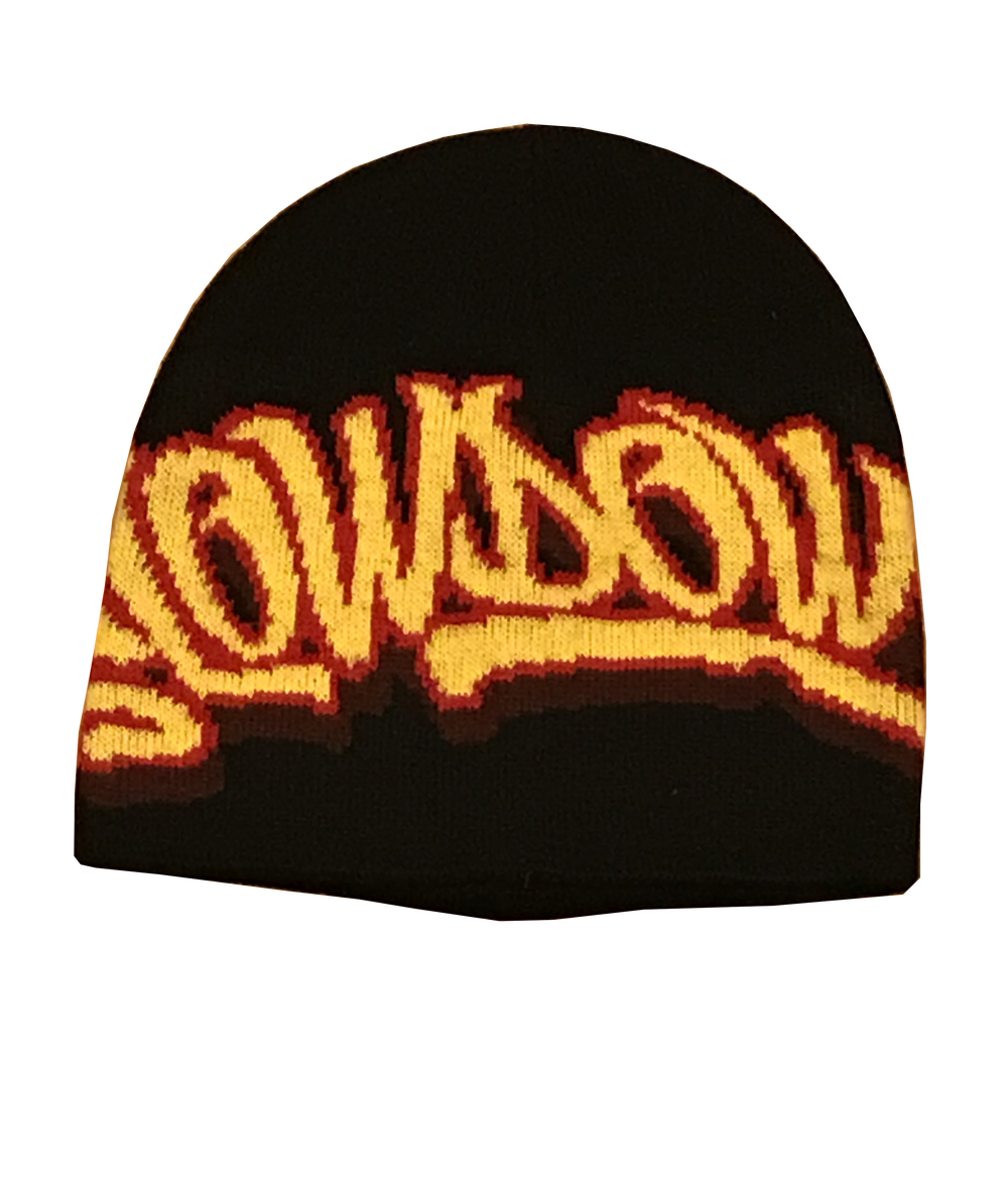 Winter Logo Beanie Black yellow and red