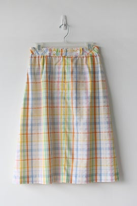 Image of SALE Jantzen Happy Plaid Cotton Skirt (Orig $35)