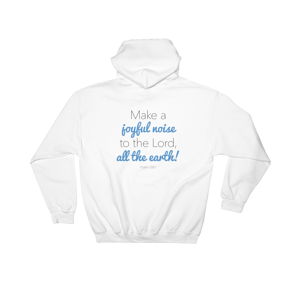 Image of EXT-Songs of Zion Psalm 100.1 Hoodie (Extended Sizes)
