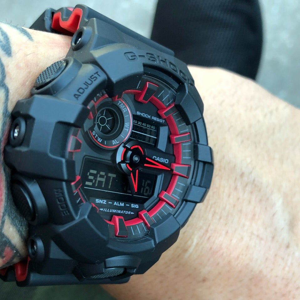 Image of GA-700 W/ Hyper Red Accents