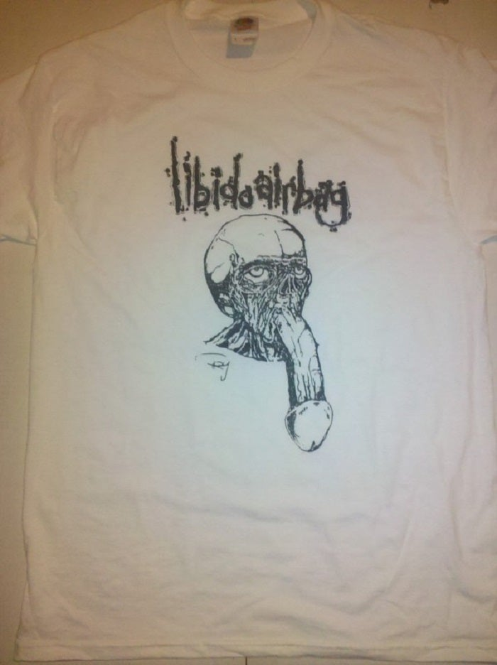 "Image of Libido Airbag  "" Dickface ""  White T Shirt"