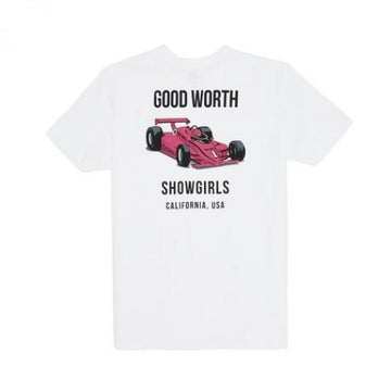 Image of GOOD WORTH & CO. - GRAND PRIX TEE (WHITE)