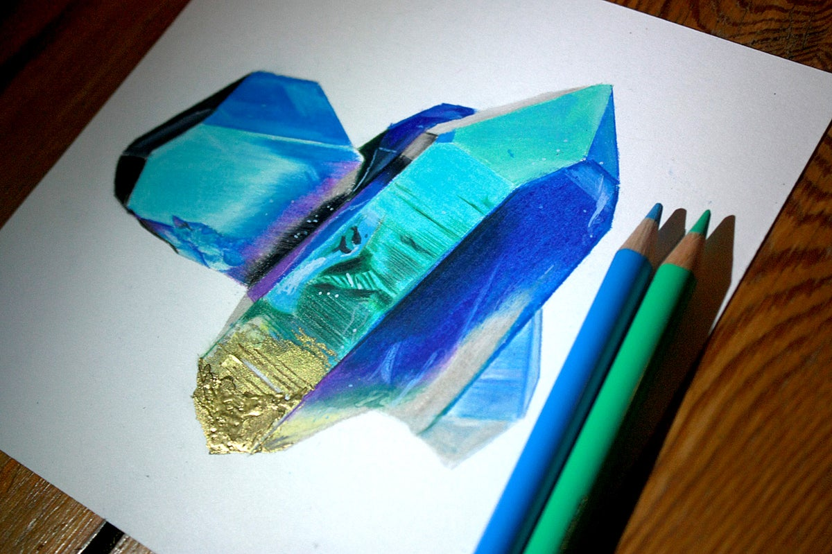 Image of Original. TItanium aura quartz