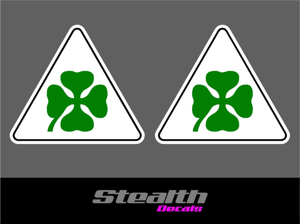 Image of Alfa Romeo Clover stickers x2