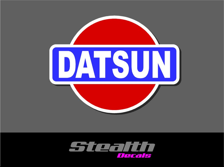 Image of Datsun logo stickers v1 x2