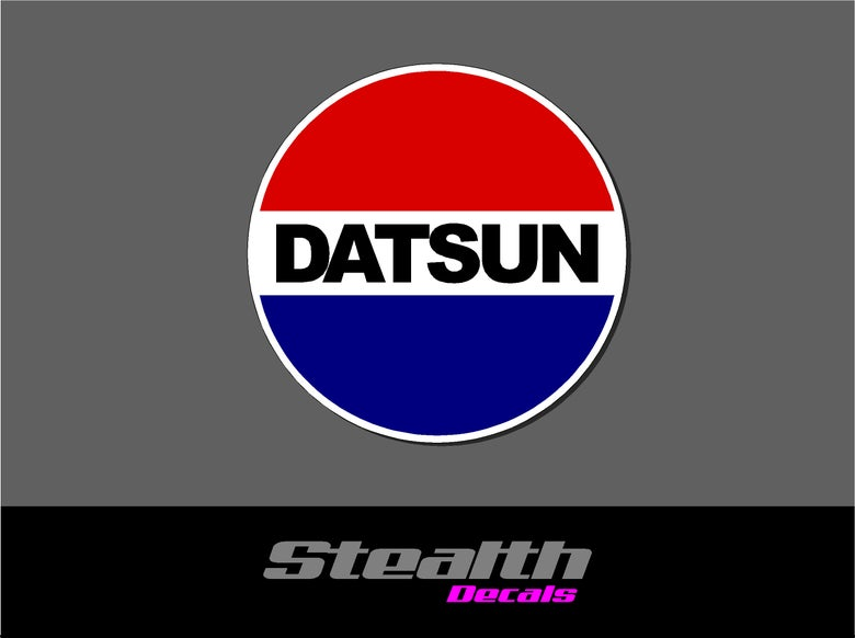 Image of Datsun logo stickers v2 x2