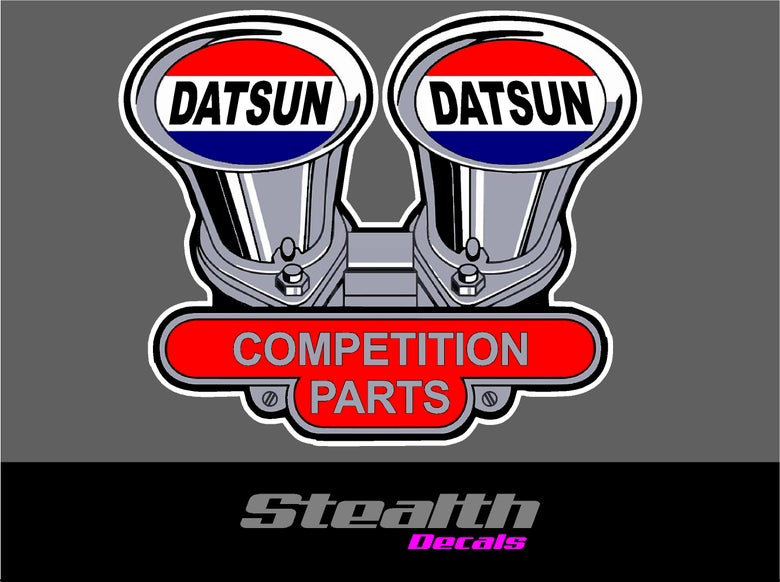 Image of Datsun Competition parts stickers x2