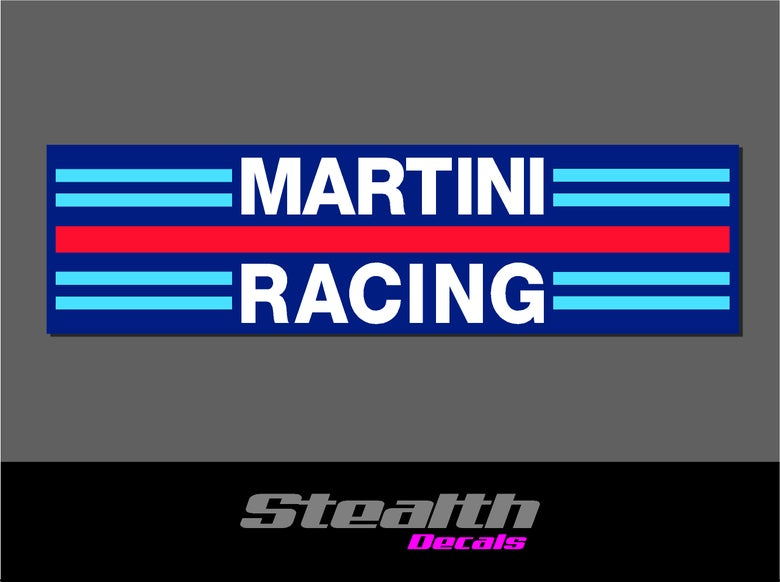 Image of Martini Racing vintage style stickers x2