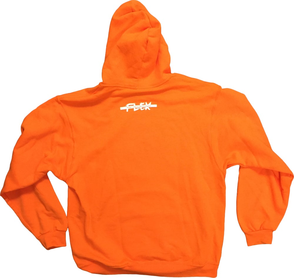 Image of FLEX Logo hoodie (orange)