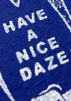 Image of Dazed and Confused Pennant Royal Blue