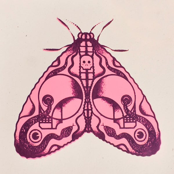 Image of Death Moth (2 color)