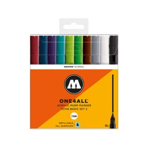 Image of MOLOTOW One 4 All 127 HS Main 10x Marker Set Basic 2