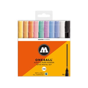 Image of MOLOTOW One 4 All 127 HS Main 10x Marker Set Pastel