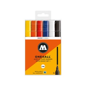 Image of MOLOTOW One 4 All 227 HS 6x Marker Set Basic 1