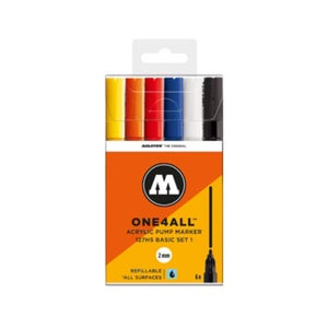 Image of MOLOTOW 127 HS Tryout 6x Marker Set Basic 1