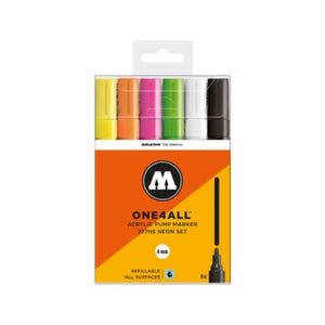 Image of MOLOTOW One 4 All 227 HS 6x Marker Set Neon