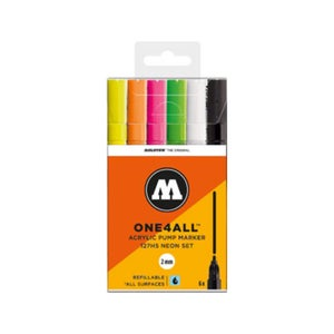 Image of MOLOTOW One 4 All 127 HS 6x Marker Set neon
