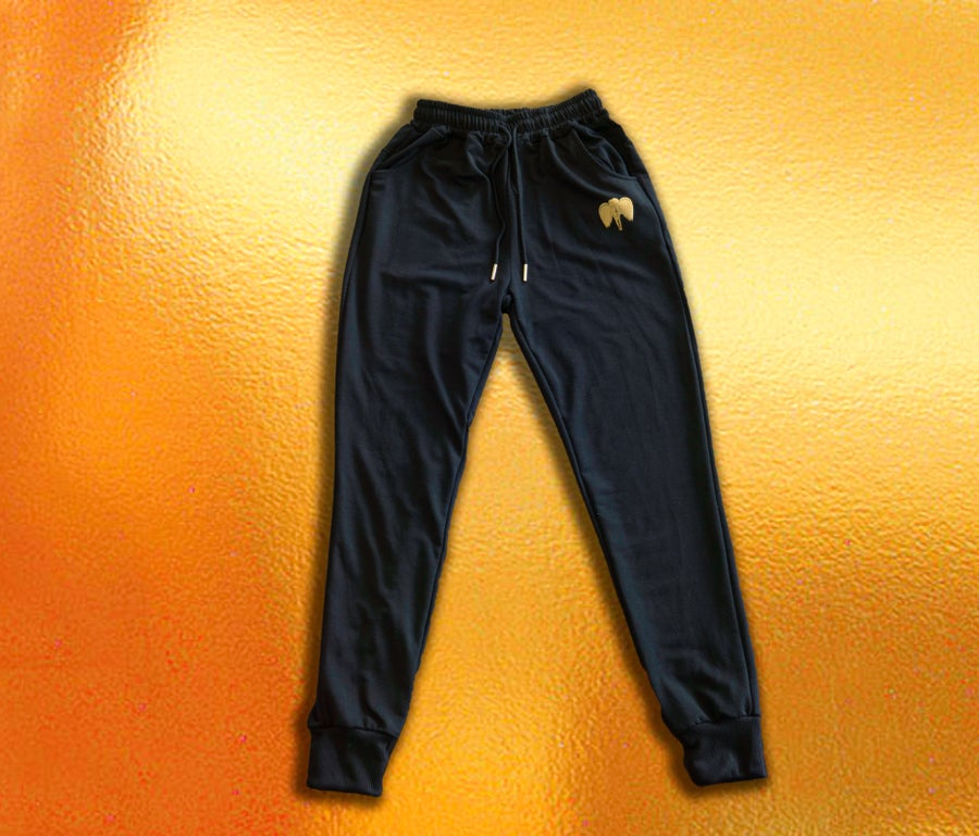 Image of Gold Angel Joggers in Black (Men's)