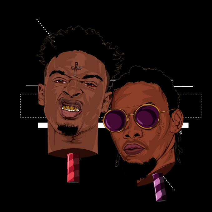 Image of 21 SAVAGE & OFFSET Print